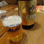 魚寅食堂 - エビス瓶ビール