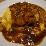 足柄の森レストラン - 御殿たまごのオムライスデミグラスソース  1100円