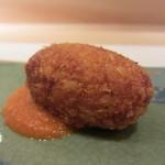 艪 - ずわい蟹のカニクリームコロッケ