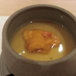 艪 - 雲丹の茶碗蒸し