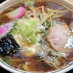 あさひ食堂 - 五目ラーメン(600円)+大盛り(100円)