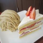 パティスリー プレジール - 料理写真:ショートケーキ、モンブラン