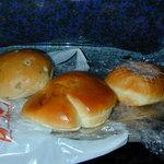 双葉サービスエリア(下り線)パン工房ふたば - くるみアンパン、クリームパン、揚げあんドーナツ