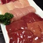 軍鶏丸 - 鍋のお肉4種類