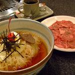 大満 - 冷麺もお肉も両方楽しみたい方におすすめの冷麺ランチ。