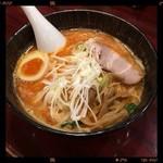 魚らん坂 - 辛味噌ラーメン 750円