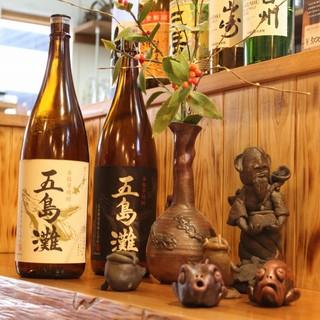 【五島丸】でしか味わえない五島の焼酎に、一等級の日本酒!