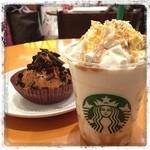 スターバックス・コーヒー - あまあまきゅけ☆ クラッシュマロンパイフラペチーノとラズベリーチョコレートパイ。