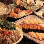 鮨竜 - 宴会コースは季節に