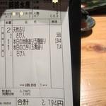 阿波水産 - レシート('13/12月の17時)