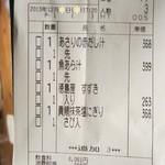 阿波水産 - レシートレシート('13/12月の17時過ぎ)