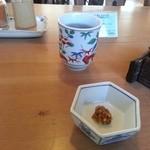 手打そば ながいけ - 蕎麦茶と蕎麦味噌(2013.12.25)
