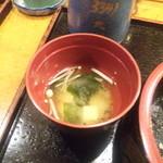 宝寿司 - エノキと豆富とワカメの味噌汁!