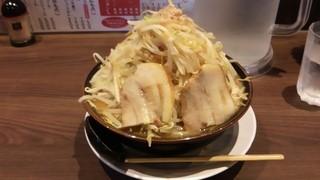 ラーメン・つけ麺 笑福 - 味噌ラーメン野菜増し、アブラ増し