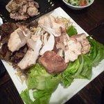 ふく問屋 あたか - 走り地鶏と椎茸・マイタケ