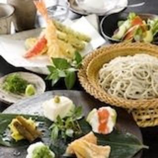 【ディナー】蕎麦会席4,200円~/【ランチ】1,600円~