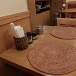 カフェアブリ - テーブルの感じ