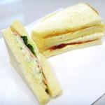 サンアントン - 料理写真:ハムポテトランチとジャムピーナッツバターサンド