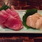 魚Bar 一歩 - 寒ブリとホタテ(価格失念)