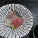 日本料理加賀 - 焼きサワラと鯛、マグロ