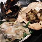 ristorante ANDREA - 豪華な貝のグリルプレート