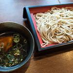 生粉蕎麦 玄 - 「鶏なんばん」(390円)。温かいつけ汁のお蕎麦です。