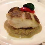 コートドール - 鯛〜(≧∇≦)鮑の肝ソースで美味しさUP