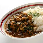 スリスリ カリーカフェ - 香味焼きチキンとほうれん草の挽肉カリー