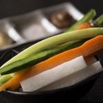 たんたん。 - 野菜スティック★570円