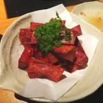 黒豚しゃぶしゃぶ 島津 - 紫芋のフライ