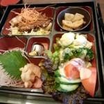 温や - 料理写真:湯あがり弁当(おかずの部分<拡大>) (2013.12.27)