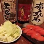 鳥満 - ◆塩キャベツ&トマトスライス◆定番のおつまみ♪トマトも真っ赤な新鮮な物を選んでます♪