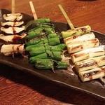 鳥満 - ◆野菜串◆しいたけ・ししとう・長ネギ~♪<ALL250円>