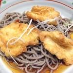 大江戸そば - 思いのほかおいしい。 しばらく食べられないので。