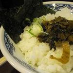 博多麺房 赤のれん - 高菜ごはん