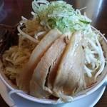 らーめん馬鹿 神屋 - 雷神麺 中盛