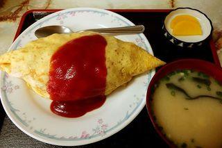 城南食堂 - オムライス(味噌汁つき) 1