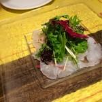 23323803 - 鮮魚のカルパッチョ(ヒラメ、スズキ)