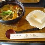 夢乃家 - この時の冷奴が人気の豆腐だったそうです。