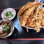 吉野屋 - 天丼セット(大盛り) ¥1,050