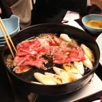 岡半 - 松坂牛を、じゅじゅじゅぅ~とね、良い香りが部屋中に (2013/12)