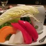 23331581 - ●旬野菜のお造り バーニャカウダ風1200円