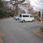 こやぶ竹聲庵 - 店舗前の駐車場