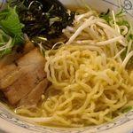 鶏骨スープ 青桐 - 鶏骨醤油ラーメン