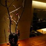 東郷 - オープン・キッチンとカウンター
