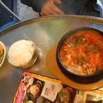 韓豚屋 - 部隊チゲ定食¥1000