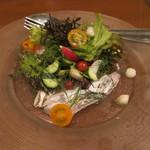 オンダ クッチーナ イタリアーナ - 平塚~太刀魚のカルパッチョ(1300円)・・・2013/10