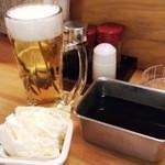 23345786 - 生ビール+お通し