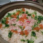 23346006 - ズワイ蟹とイクラ 有機米土鍋炊き込みご飯