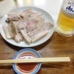 水月亭 - 蒸し豚そのままでも!ビールとあいます!